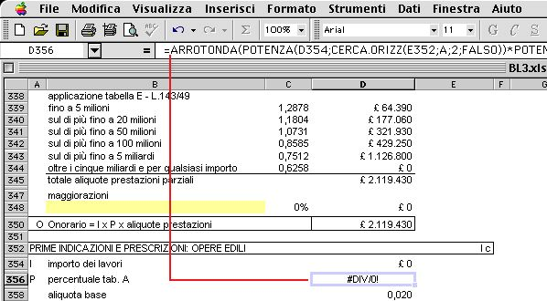 Tariffa architetti ingegneri files xls - Parcella architetto ...